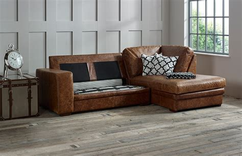 Leather Sofa Bed With Chaise 2 5 X Chaise Corner Sofabed Leather Chaise Sofa Bed Right Facing Grey Leather Sofas