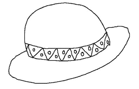 sun hat coloring page sunhat coloring pages