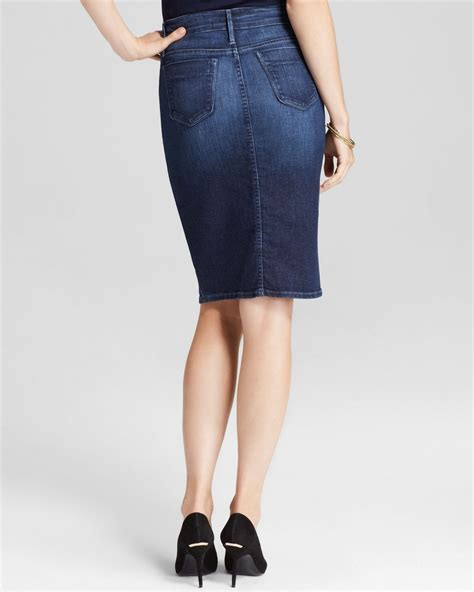 black orchid pencil skirt denim in blue lyst