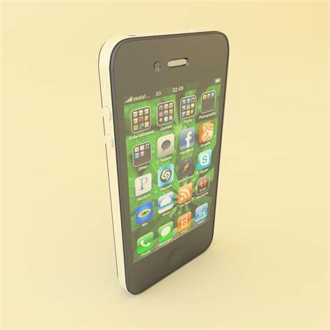Hp Iphone Cdma Second 3d apple iphone 4 cdma model