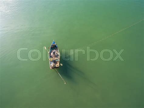 fishing boat top view top view of fishing boats in the sea fishing boat