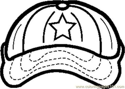 Coloring Pages Baseballcap1bw Sports Gt Others Free Baseball Cap Coloring Page