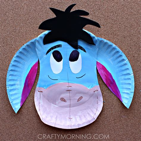 Crafts Out Of Paper Plates - paper plate eeyore craft for crafty morning