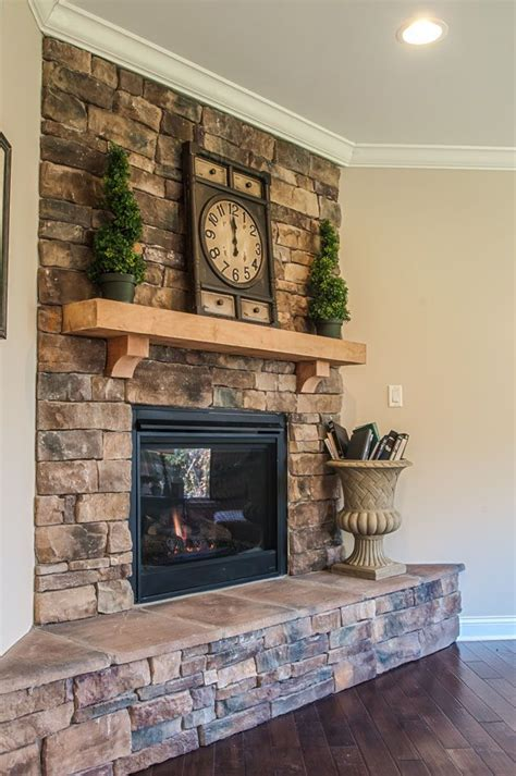 stone fireplaces pictures corner stone fireplace
