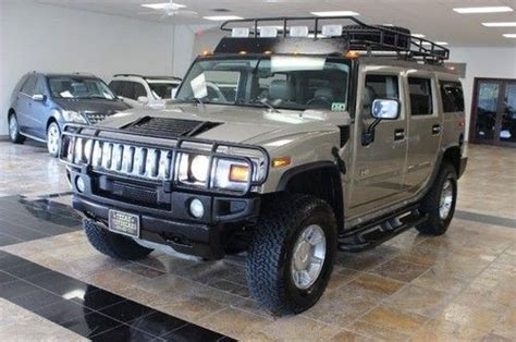 purchase used 2003 hummer h2 4wd safari package heated