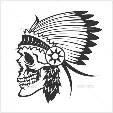 native american indian chief headdress by digital clipart