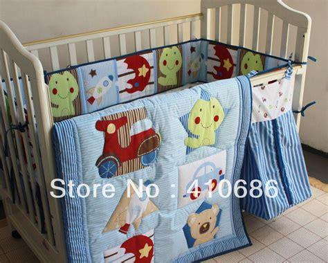 appliqued 3d jungle animals boy baby cot crib bedding set