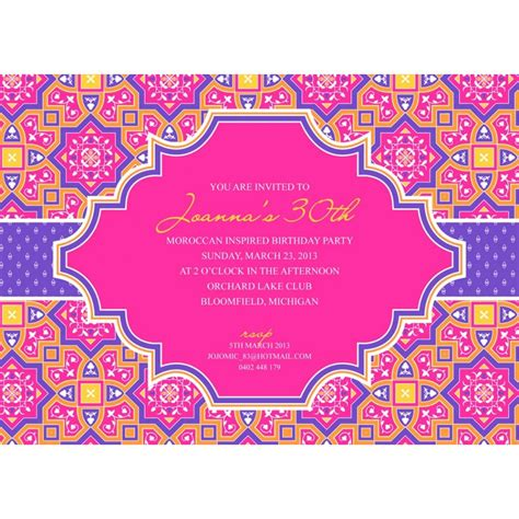 indian themed birthday invitations moroccan indian geometric modern birthday printable customized invitation