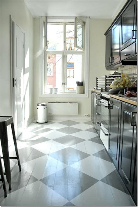 Painted Kitchen Floors Painted Wood Floors Ideas
