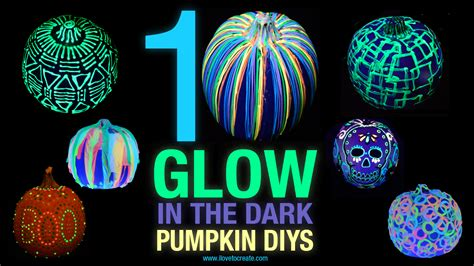 glow in the paint on pumpkins 10 glow in the pumpkin diys ilovetocreate