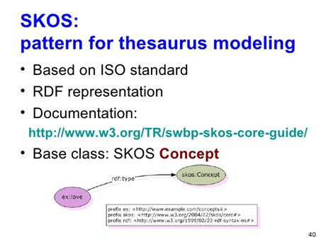 pattern meaning thesaurus ontology engineering ontology construction ii