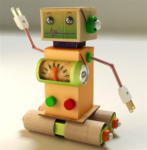 Make A Paper Robot - tang paper robot on behance