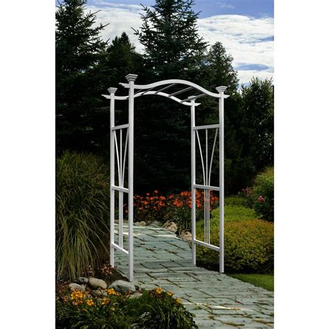 greenstone fairchild 84 x 61 in outside wood garden arbor