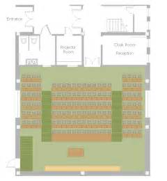 lecture floor plan lecture theatre