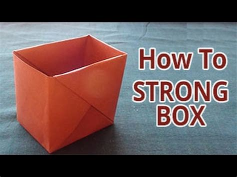 How To Make Paper Stronger - how to make a strong box from paper diy do it yourself