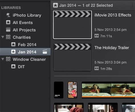 final cut pro library event project imovie 2013 and final cut pro x 10 1