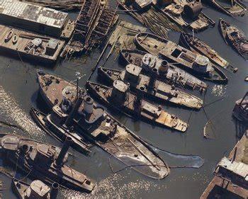boat junk yard louisiana derelict graveyard tv tropes