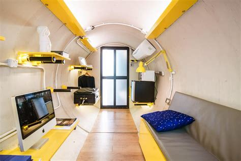 Small Luxury Flat In Hong Kong Idesignarch Interior Design Architecture Interior concrete water pipe converted into an innovative tiny hong kong apartment idesignarch