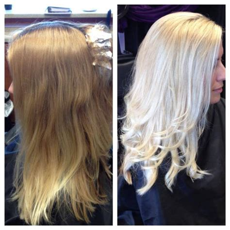 best at home hair color for blonde highlights hairstyle reference this is a before after she went from brassy blonde to