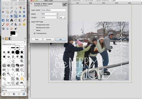 layout tutorial gimp diy christmas card tutorial basic design in gimp amy
