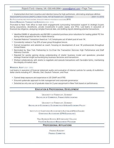 cfo resume small corporation