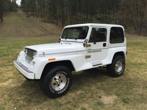renegade jeep wrangler 1991 jeep wrangler yj renegade top 5 speed 6 cylinder