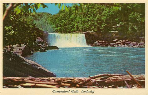 park ky vintage travel postcards cumberland falls state park