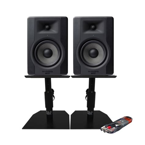 M Audio Bx5 by M Audio Bx5 D3 Monitors With Desktop Stands Cable