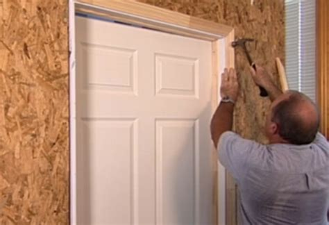 Install Door Trim by How To Install Interior Door At The Home Depot