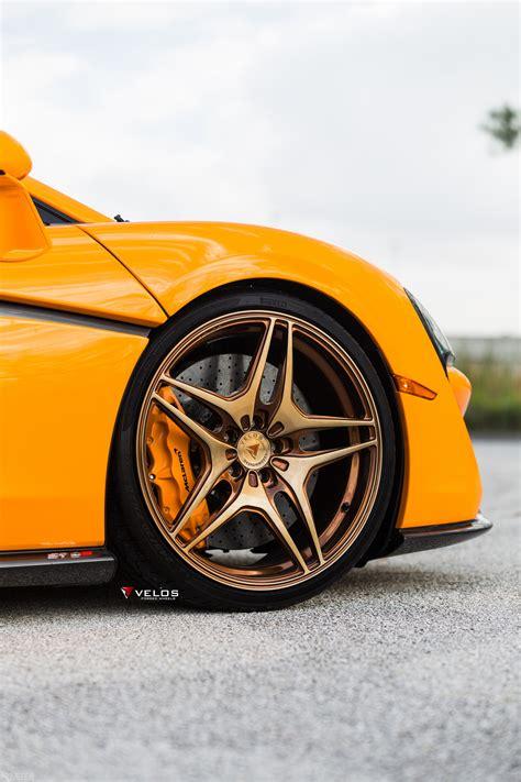 mclaren wheels mclaren 570s on velos vls04 1 pc forged wheels velos