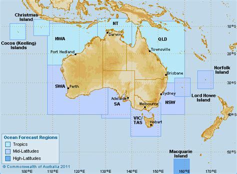 map of australia with oceans sea temperatures and currents
