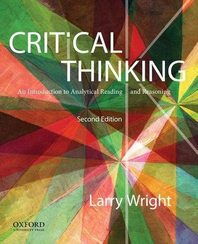thinking and reasoning a introduction introductions books critical thinking an introduction to analytical reading