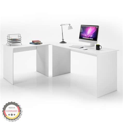 Angled Computer Desk Angle Desk Office Corner Desk Computer Desk Pc Table White Ebay