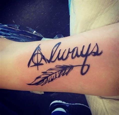tattoo font always 50 insanely crazy harry potter tattoos that are truly