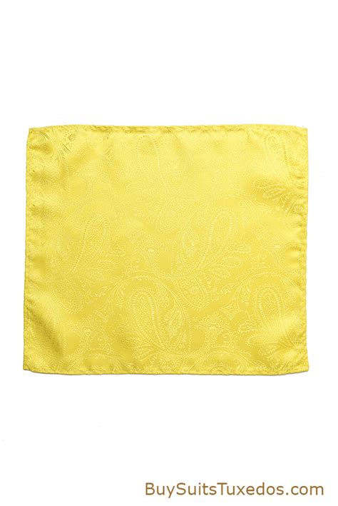 yellow pattern pocket square canary yellow paisley pocket square king formal wear