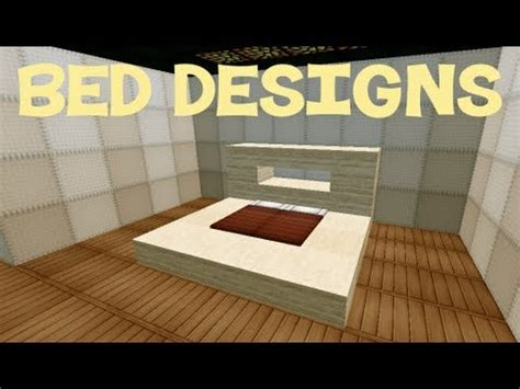 minecraft bed ideas minecraft bed designs youtube