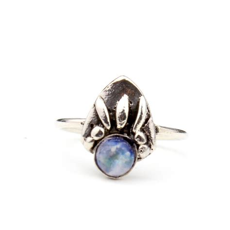bohemian moonstone sterling silver ring by amelia may