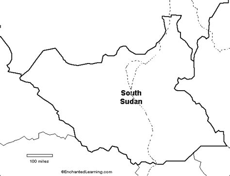 South Sudan Map Outline by Outline Map South Sudan Enchantedlearning
