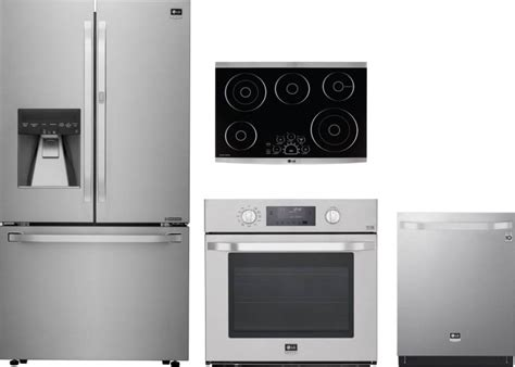 oven cooktop package lg studio 4 appliance package with lsfxc2476s