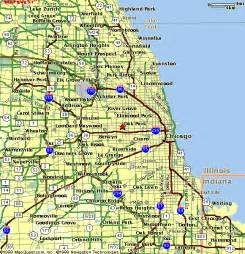 chicago highway map chicagoland map
