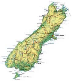 physical map of new zealand south island