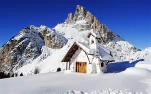 house snow mountain house landscape snow wallpaper 1920x1200