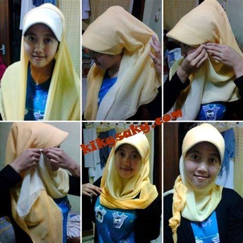 Kerudung Segi Empat Glitter cara memakai jilbab muslimah cara memakai jilbab simple