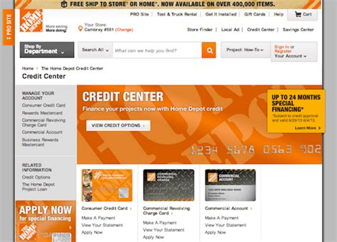 home depot consumer credit card phone number best