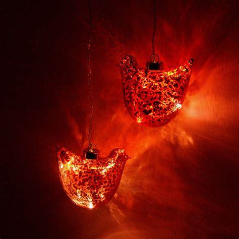 bird bauble light by red lilly notonthehighstreet com