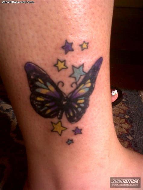 tattoos de estrellas destellos mariposas estrellas tatuajes de mariposas