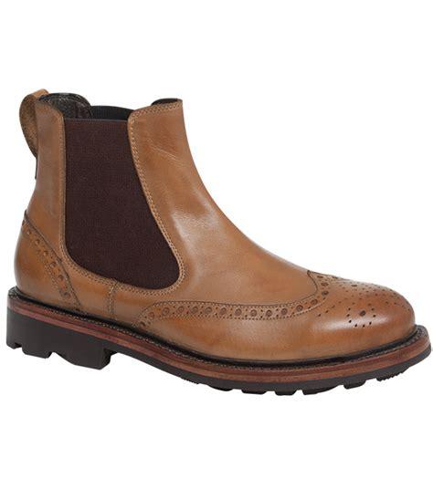 Handmade Dealer Boots - turnberry brogue dealer boot by hoggs of fife handmade