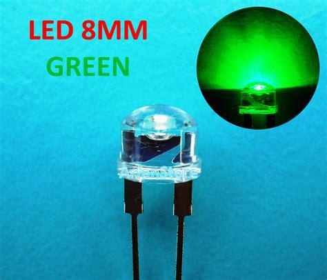 jual led 8mm straw hat lu topi bright 0 5w warna green hijau arfanstore