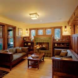 Craftsman Style Homes Interior Fireplace On