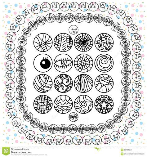 layout editor draw circle circle icon design set drawing vector illustration